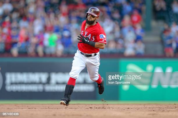 Texas Rangers Infield Rougned Odor hits a home run during the bottom of the second inning between the Chicago White Sox and Texas Rangers on June 29...