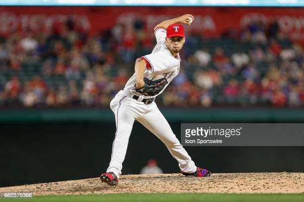 Texas Rangers Pitcher Alex Claudio comes on in relief during the MLB game between the San Diego Padres and Texas Rangers on May 10, 2017 at Globe...