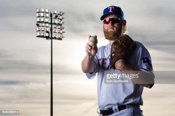 Texas Rangers pitcher Andrew Cashner poses for a photo during the Texas Rangers photo day on Feb 22 2017 at Surprise Stadium in Surprise Ariz