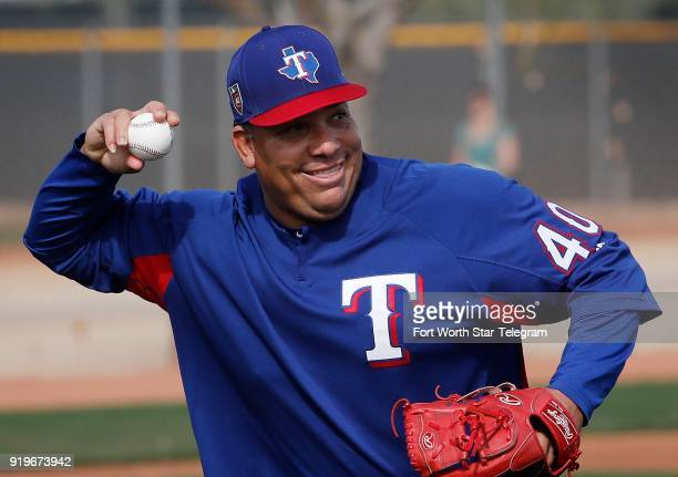 Texas Rangers pitcher Bartolo Colon during spring training on Saturday Feb 17 in Surprise Ariz