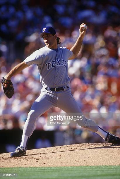 Texas Ranger's pitcher Kenny Rogers on the mound against the A's Mandatory Credit Otto Greule/ALLSPORT