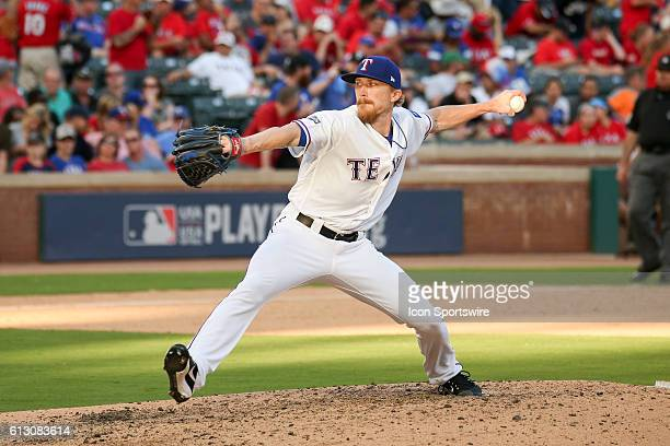 Texas Rangers relief pitcher Jake Diekman during game 1 of the ALDS between the Toronto Blue Jays and Texas Rangers at Globe Life Park in Arlington...