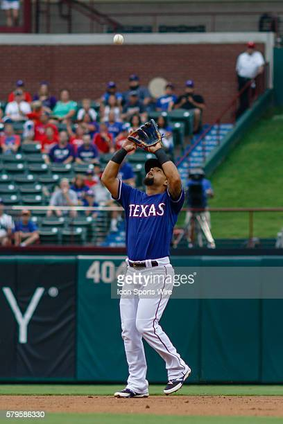 Texas Rangers Second base Rougned Odor [9855] camps under an infield fly during the MLB game between the Arizona Diamondbacks and the Texas Rangers