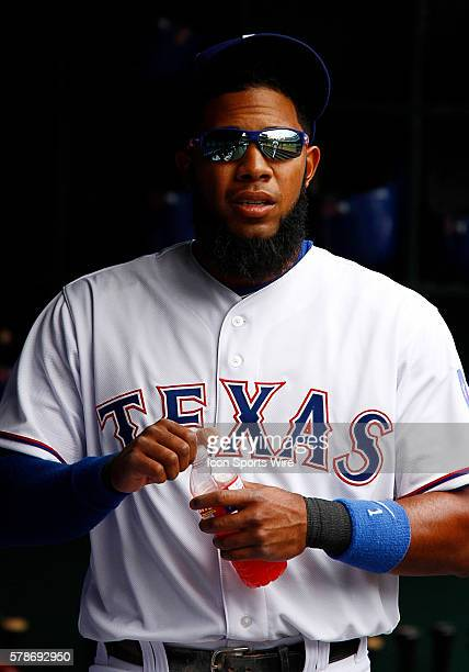 Texas Rangers Shortstop Elvis Andrus [6293] during a regular season MLB game between the Chicago White Sox and Texas Rangers at Globe Life Park in...