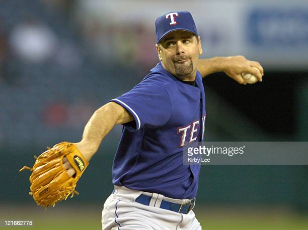 Texas Rangers starting pitcher Kenny Rogers allowed seven hits and two runs in five innings during 6-3 victory over the Anaheim Angels at Angel...