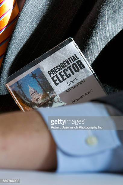 Texas Republican members of the Electoral College vote for the presidential ticket of Mitt Romney/Paul Ryan during ceremonies Monday at the Texas...