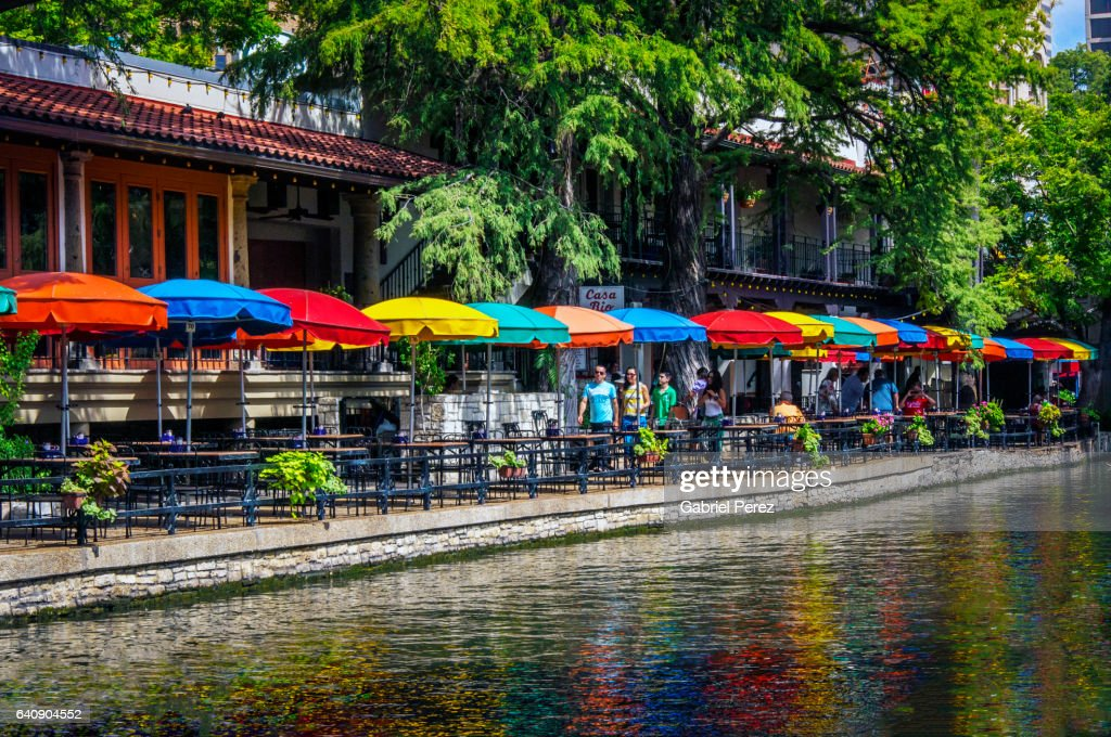 A Texas Riverwalk in Color : Foto de stock