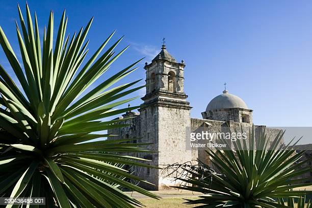 usa, texas, san antonio, mission san jose exterior - テキサス州サンアントニオ ストックフォトと画像