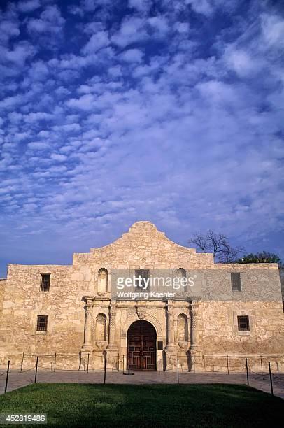 USA Texas San Antonio The Alamo Shrine Sky With Clouds