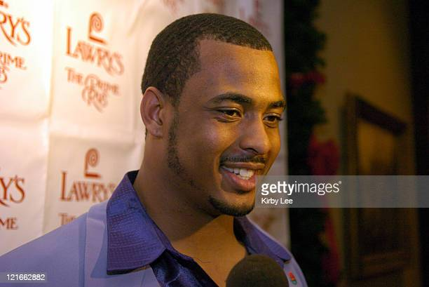 Texas senior linebacker Derrick Johnson is interviewed at the 49th annual Beef Bowl at Lawry's The Prime Rib in Beverly Hills Calif on Tuesday Dec 28...