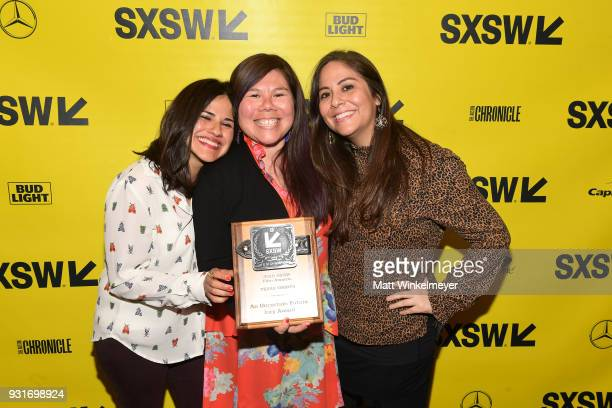 Texas Shorts/Jury Award winners for An Uncertrain Future Iliana Sosa Chelsea Hernandez and Monica Santis attend the SXSW Film Awards Show 2018 SXSW...