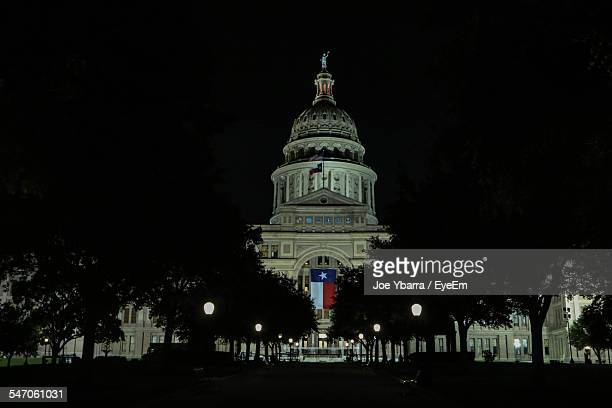 Texas State Capitol Building Illuminated At Night