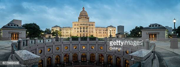 texas state capitol building in austin at sunrise - capital cities stock photos and pictures