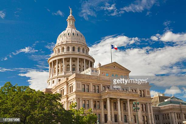 Texas State Capitol Building in Austin with flag