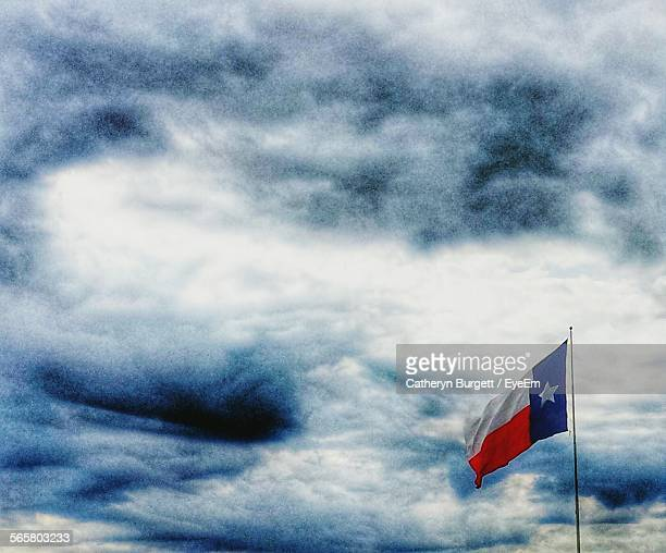 Texas State Flag Against Cloudy Sky