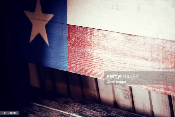 Texas state flag painted on wood
