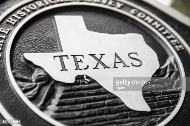 Texas state plaque
