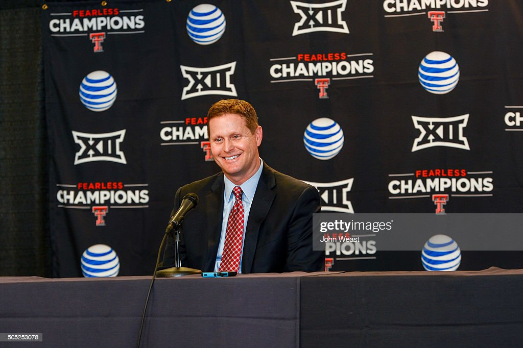 Texas Tech Athletic Director Kirby Hocutt - News Conference : News Photo
