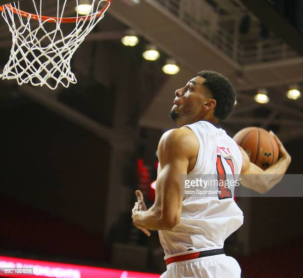 Texas Tech forward Zach Smith winds up for a windmill dunk during the Texas Tech Raider's 8253 victory over the Kennesaw State Owls on December 13...
