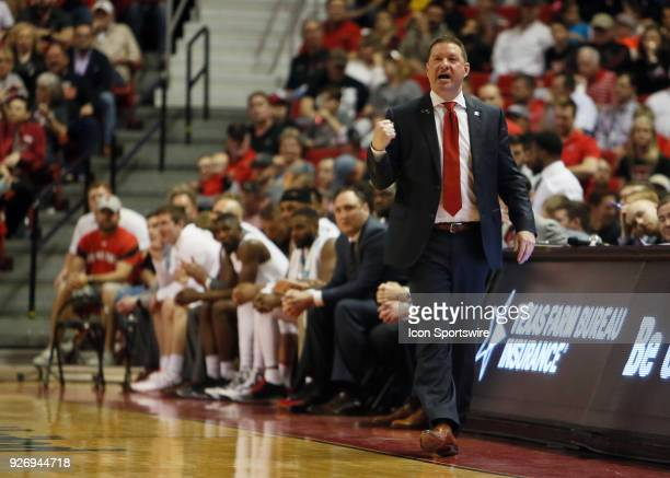 Texas Tech head coach Chris Beard watches from the sideline during the No12 Texas Tech Raider's 7975 victory over the Texas Christian University...