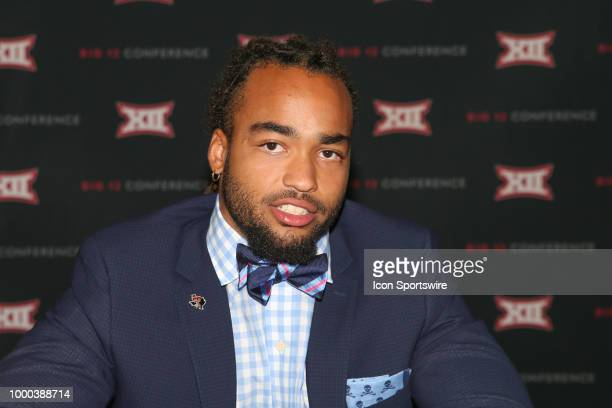Texas Tech linebacker Dakota Allen meets with the media at the Big 12 Conference Football Media Days on July 16 2018 at the Ford Center at The Star...