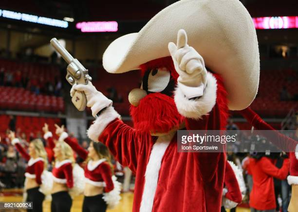 Texas Tech mascott Raider Red leads fans in the singing of the school song after the Texas Tech Raider's 8253 victory over the Kennesaw State Owls on...