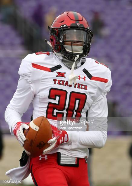 Texas Tech Red Raiders defensive back Adrian Frye before a Big 12 football game between the Texas Tech Red Raiders and Kansas State Wildcats on...