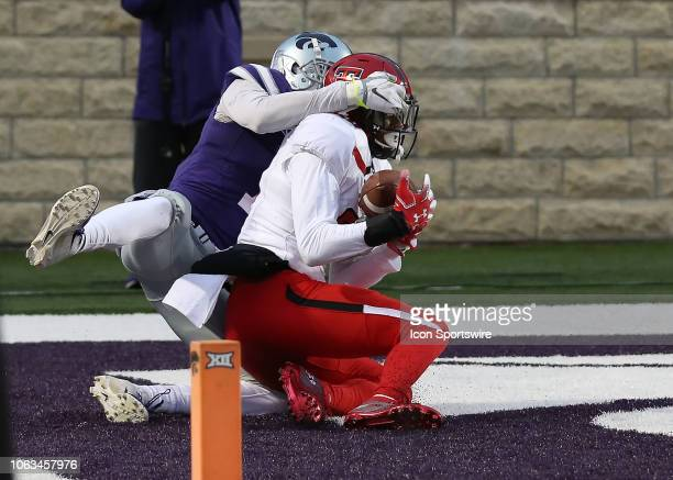 Texas Tech Red Raiders defensive back Adrian Frye intercepts a pass in the end zone in the third quarter of a Big 12 football game between the Texas...