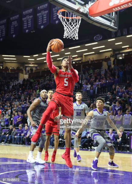 Texas Tech Red Raiders guard Justin Gray gets an easy layup late in the second half of a Big 12 matchup between the Texas Tech Red Raiders and Kansas...