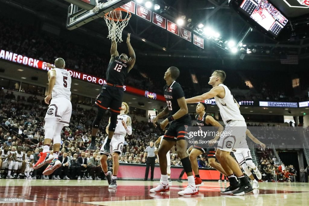 COLLEGE BASKETBALL: JAN 27 Texas Tech at South Carolina : News Photo