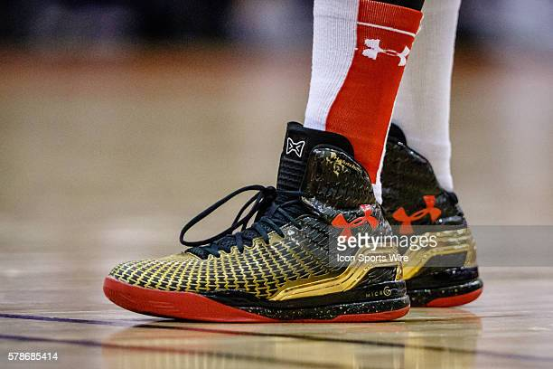 Texas Tech Red Raiders shoes during the NCAA Basketball game between the Texas Tech Red Raiders and the TCU Horned Frogs TCU defeats Texas Tech 7154