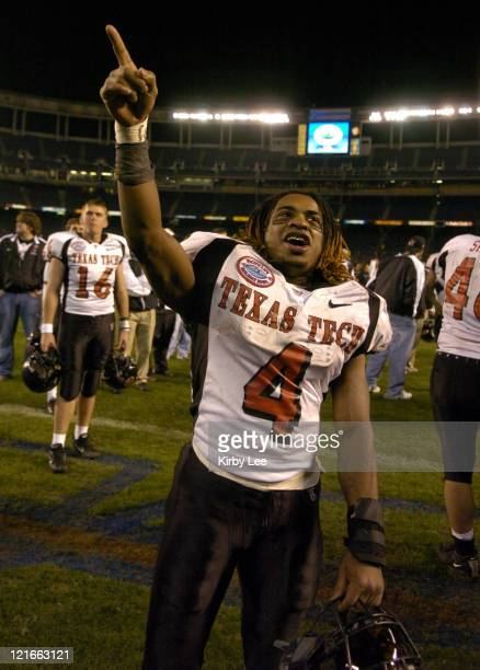 Texas Tech senior running back Johnnie Mack celebrates 4531 victory over Cal in the Pacific Life Holiday Bowl at Qualcomm Stadium in San Diego Calif...