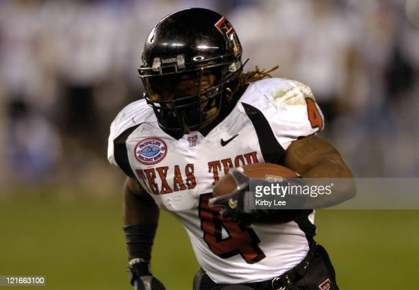 Texas Tech senior running back Johnnie Mack scores on an 11yard touchdown run in the third quarter of 4531 victory over Cal in the Pacific Life...