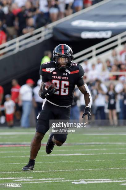 Texas Tech Sophomore Running Back Ta'Zhawn Henry runs the ball during the college football game between the Texas Tech Red Raiders and the University...