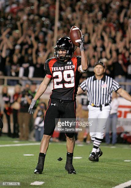 Texas Tech Taylor Charbonnet downs a Texas Tech punt at the Texas one yard line to set up a safety to as the first score of the game as Texas Tech...