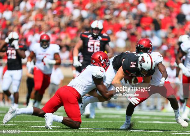 16c68a0b0 Texas Tech wide receiver Dylan Cantrell is tackled during the Texas Tech  Raider s 5610 victory over