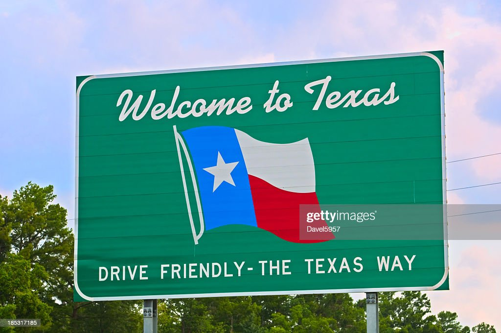 Texas Welcome Sign : Stock Photo