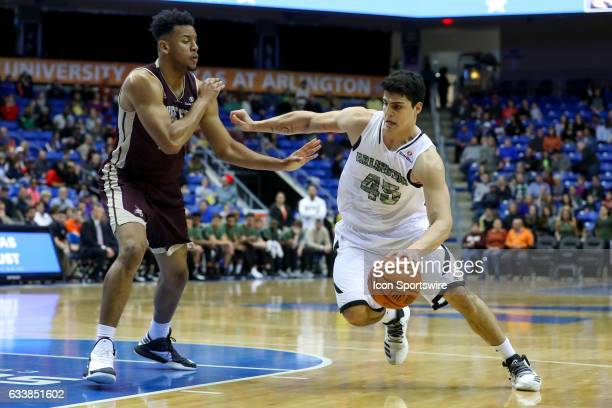 TexasArlington Mavericks forward Jorge Bilbao drives to the basket during the college basketball game against the Texas State Bobcats at College Park...