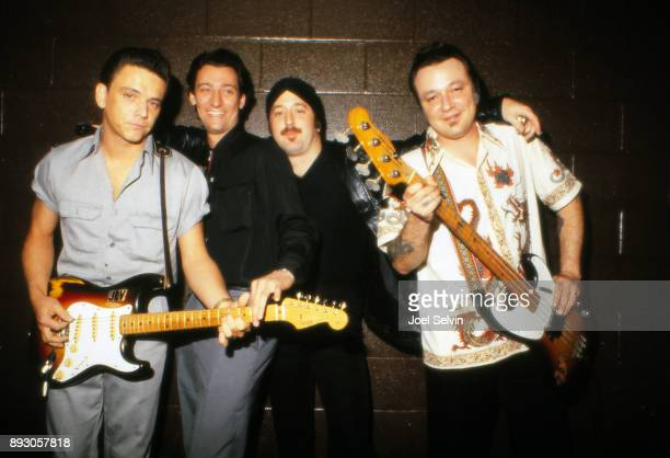 Texasbased RB band The Fabulous Thunderbirds pose backstage at the Old Waldorf on June 25 1980 in San Francisco California