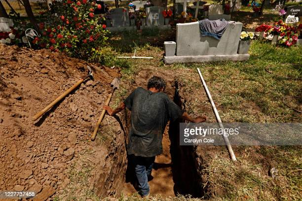 July 20, 2020-Jesus Torres, age 75, was hired to dig graves after the backhoe broke down at La Piedad cemetery in McAllen. There have been three...