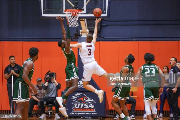 TexasSan Antonio Roadrunners forward Byron Frohnen shoots during the NCAA game between the UAB Blazers and the UTSA Roadrunners on January 30 2020 at...
