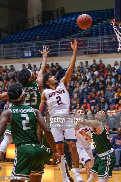TexasSan Antonio Roadrunners guard Jhivvan Jackson shoots the ball during the NCAA game between the UAB Blazers and the UTSA Roadrunners on January...