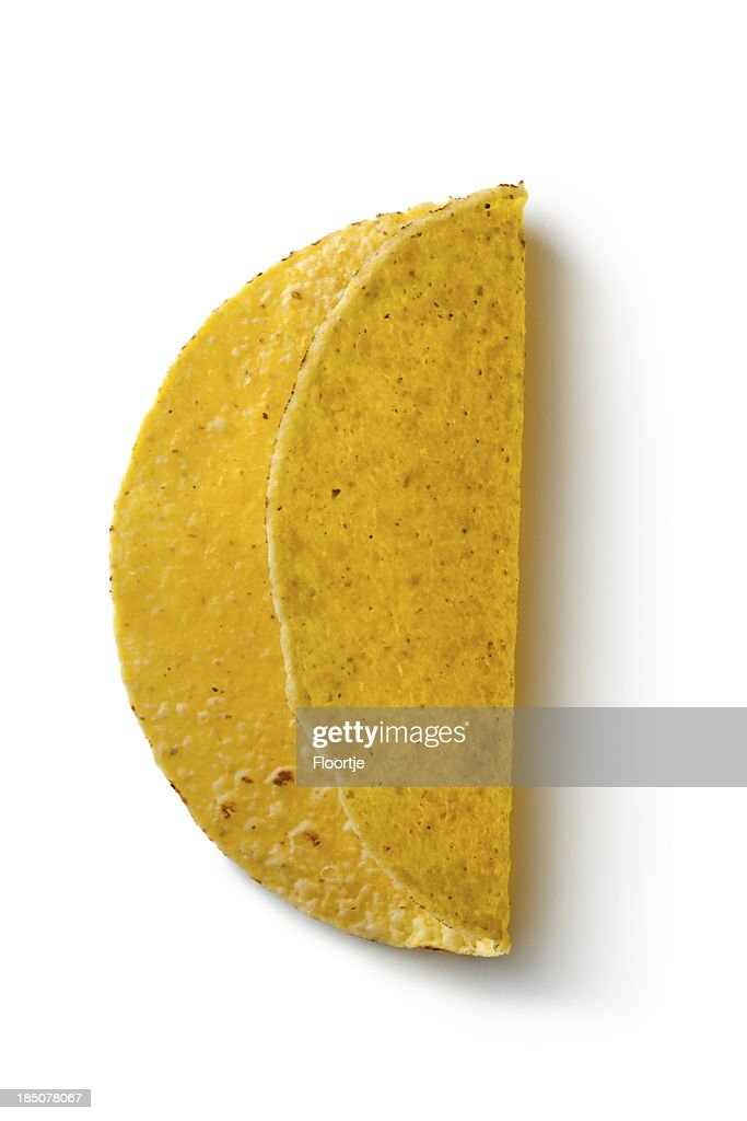 TexMex Food: Tacos Isolated on White Background : Stock Photo