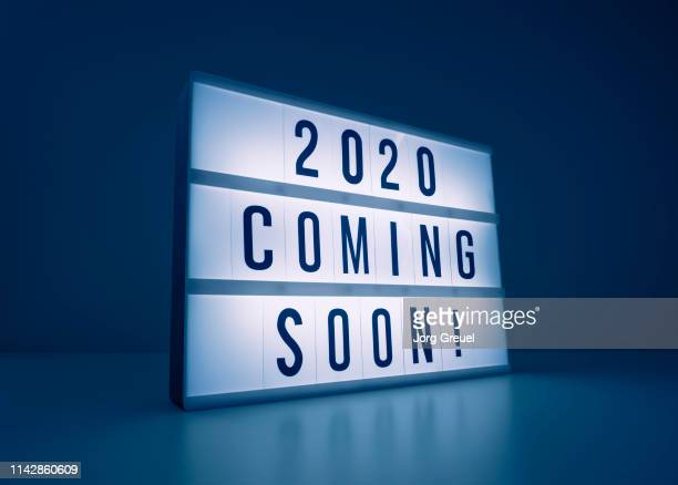 Text '2020 coming soon!' on lightbox