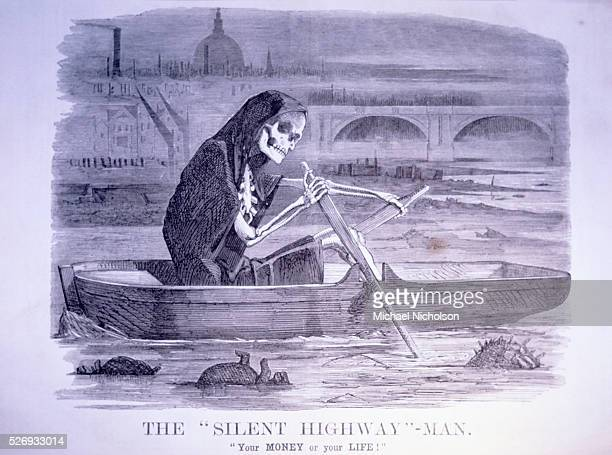 The 'Silent Highway' Man 'Your Money or your Life' Punch or the London charivari July 10 1858