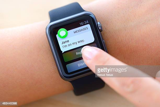 Text messages on Apple Watch