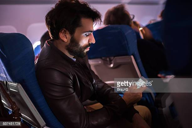Text messaging in airplane.