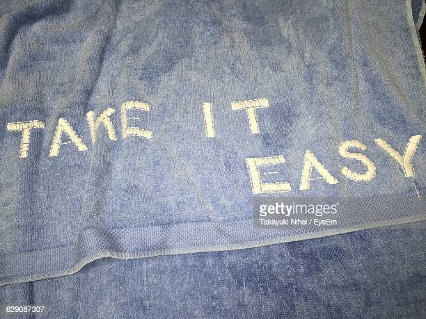 Text On Fabric