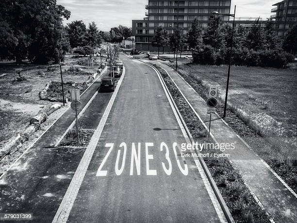 Text On Road