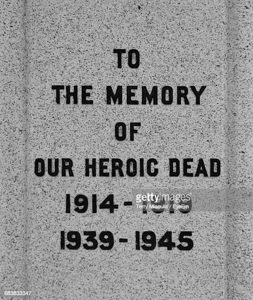 text on tombstone at cemetery - gravestone stock pictures, royalty-free photos & images
